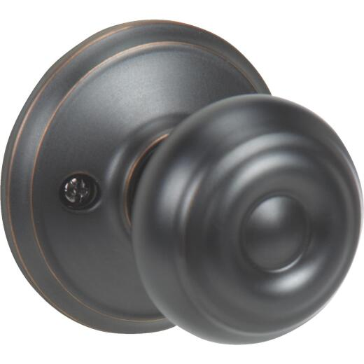 Schlage Aged Bronze Georgian Dummy Door Knob