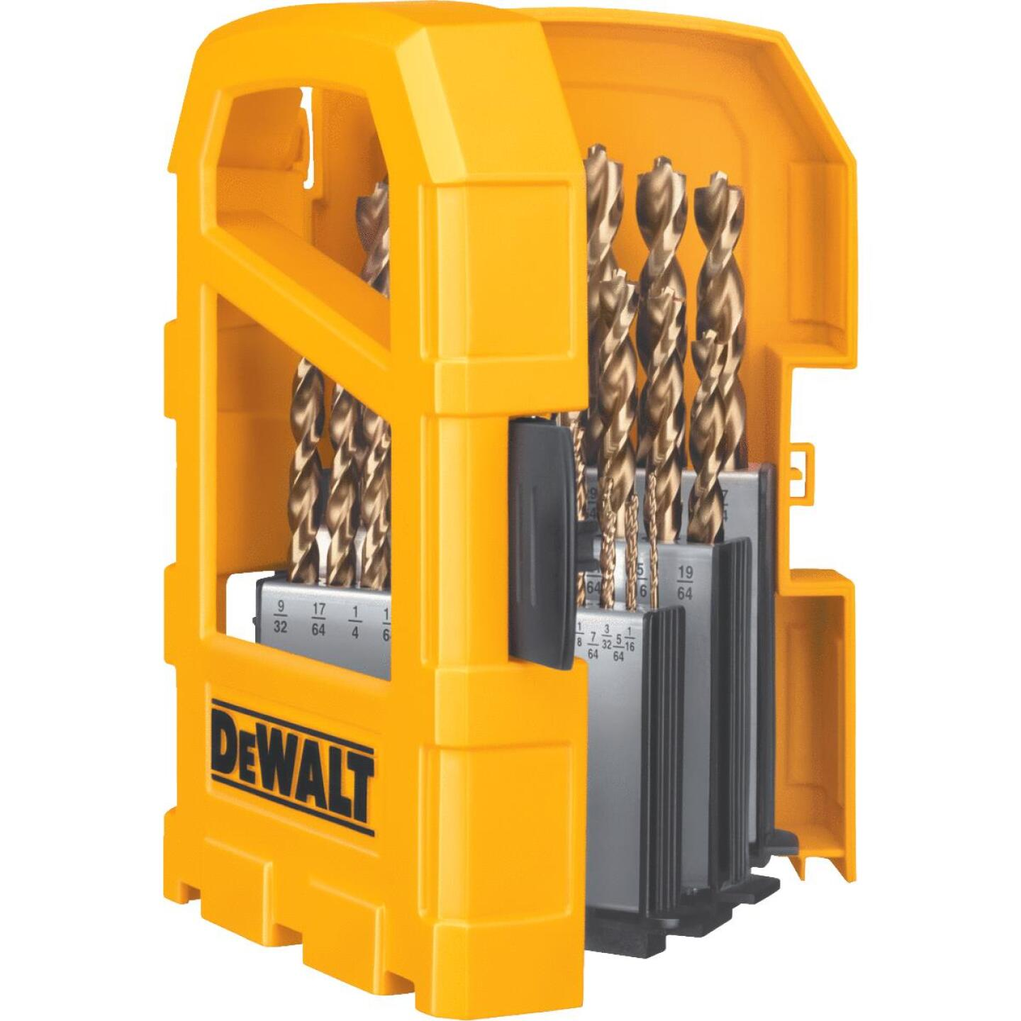 DeWalt 29-Piece Gold Ferrous Pilot Point Drill Bit Set, 1/16 In. thru 9/32 In. Image 3