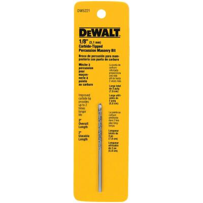 DeWalt 1/8 In. x 3 In. Masonry Drill Bit