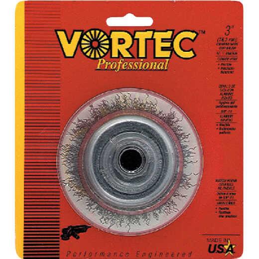 Weiler Vortec 3 In. Crimped 0.014 In. Angle Grinder Wire Brush
