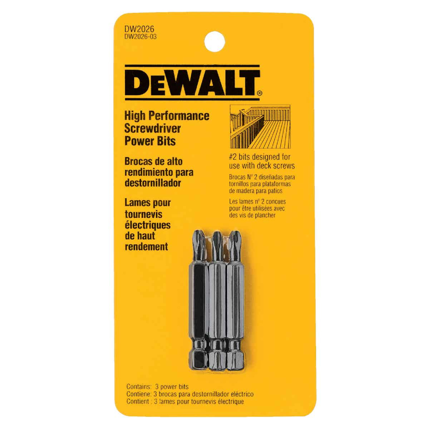 DeWalt Phillips #2 2 In. Screwdriver Bit Image 1