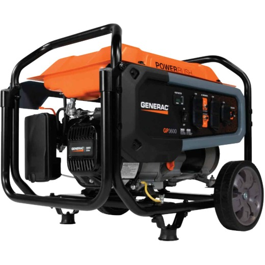 Generac 3600W Gasoline Powered Recoil Pull Start Portable Generator (California Compliant)