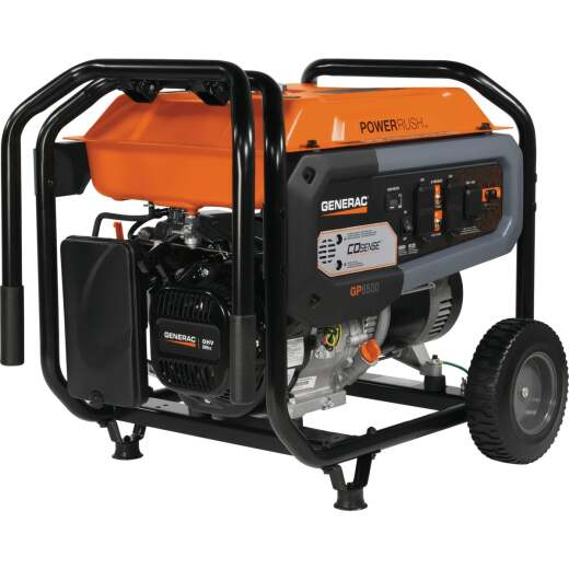 Generac Co-Sense 6500W Gasoline Powered Recoil Pull Start Portable Generator