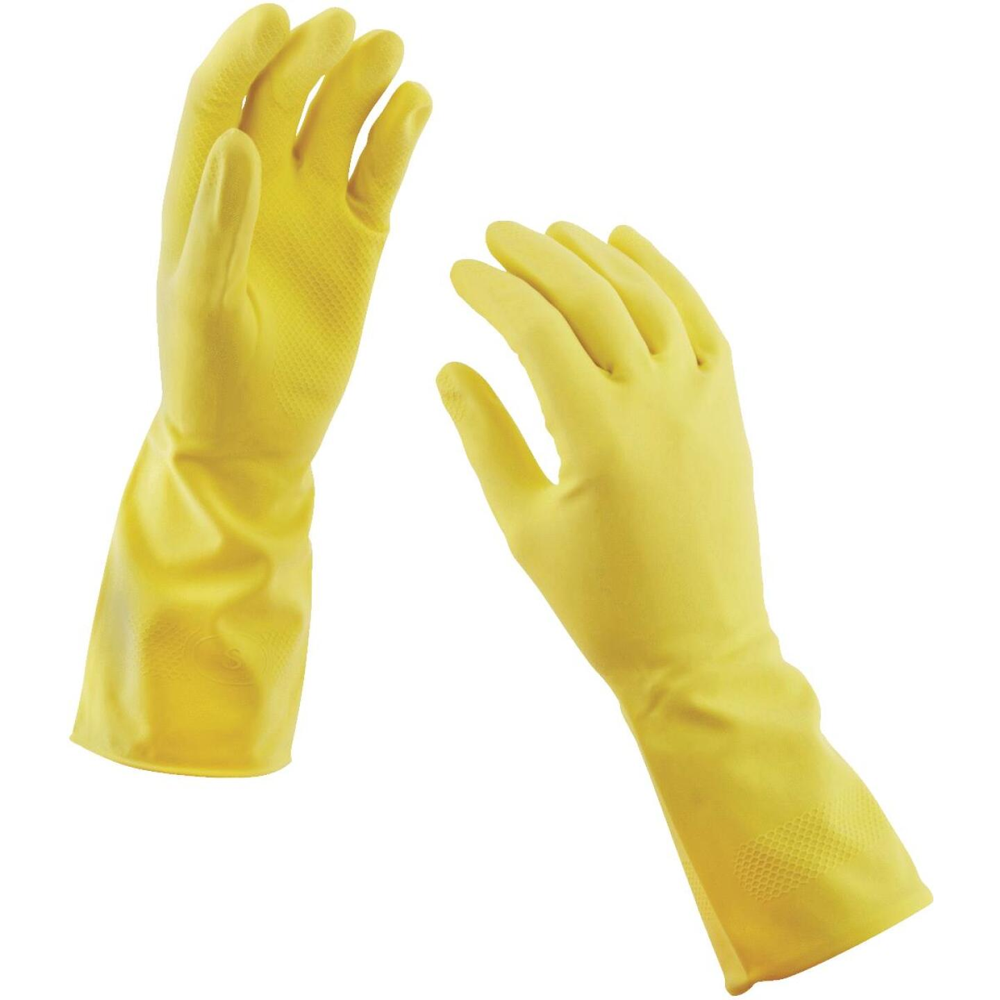 Soft Scrub Medium Latex Rubber Glove (2-Pack) Image 3