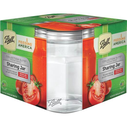 Ball Collection Elite 1 Pint Regular Mouth Sharing Canning Jar (4-Count)