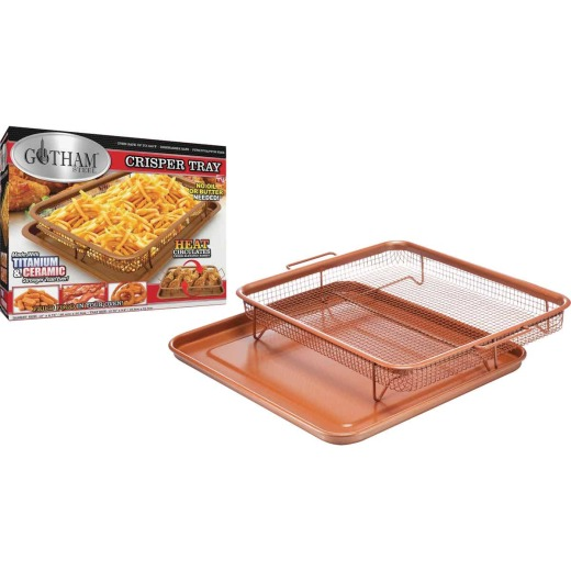 Gotham Steel Copper 9 In. x 12 In. Non-Stick Crisper Tray Baking Pan