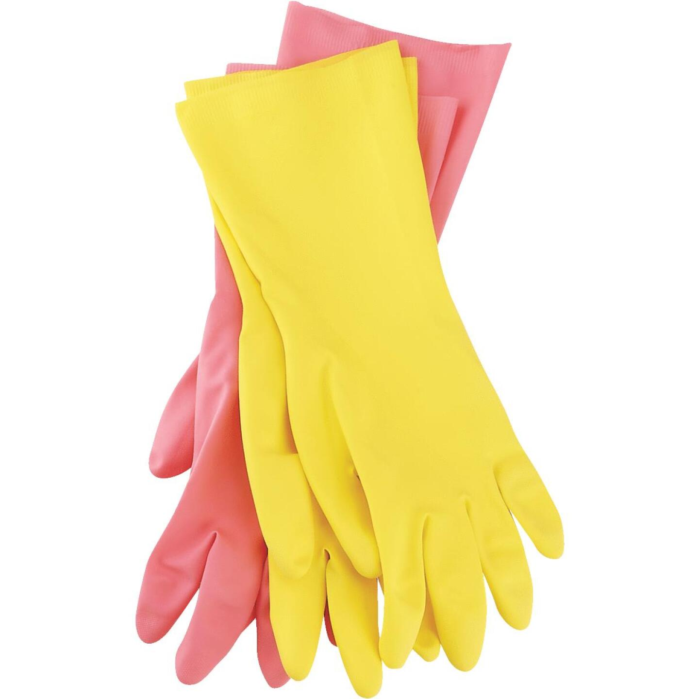 Soft Scrub Medium Latex Rubber Glove (2-Pack) Image 2