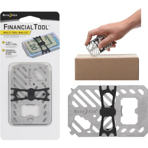 Nite Ize Financial Tool 7-In-1 Stainless Steel Multi-Tool