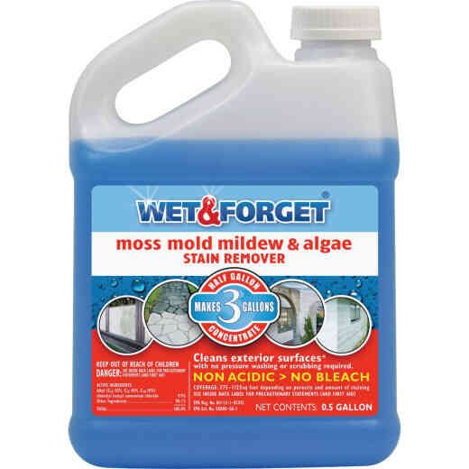 Wet & Forget 1/2 Gal. Liquid Concentrate Moss, Mold, Mildew, & Algae Stain Remover