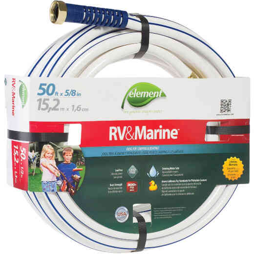 Element 5/8 In. Dia. x 50 Ft. L. Drinking Water Safe RV&Marine Hose