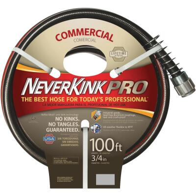 Neverkink Pro 3/4 In. Dia. x 100 Ft. L. Commercial Garden Hose