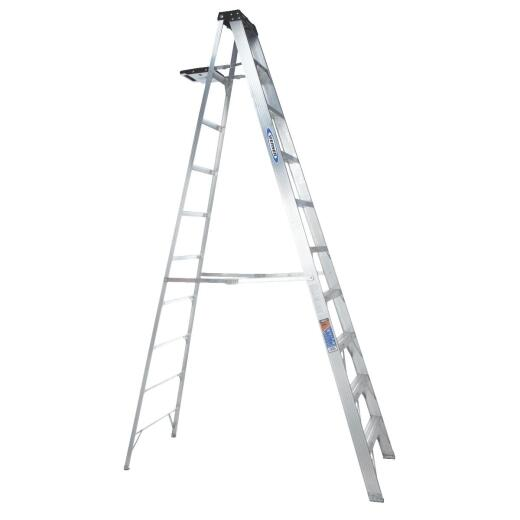 Werner 10 Ft. Aluminum Step Ladder with 300 Lb. Load Capacity Type IA Ladder Rating