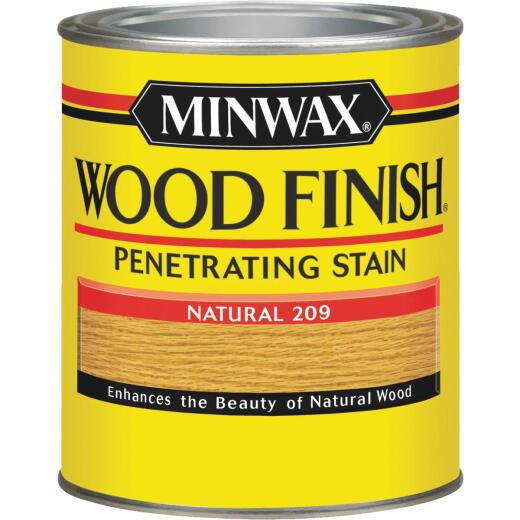 Minwax Wood Finish Penetrating Stain, Natural, 1 Qt.