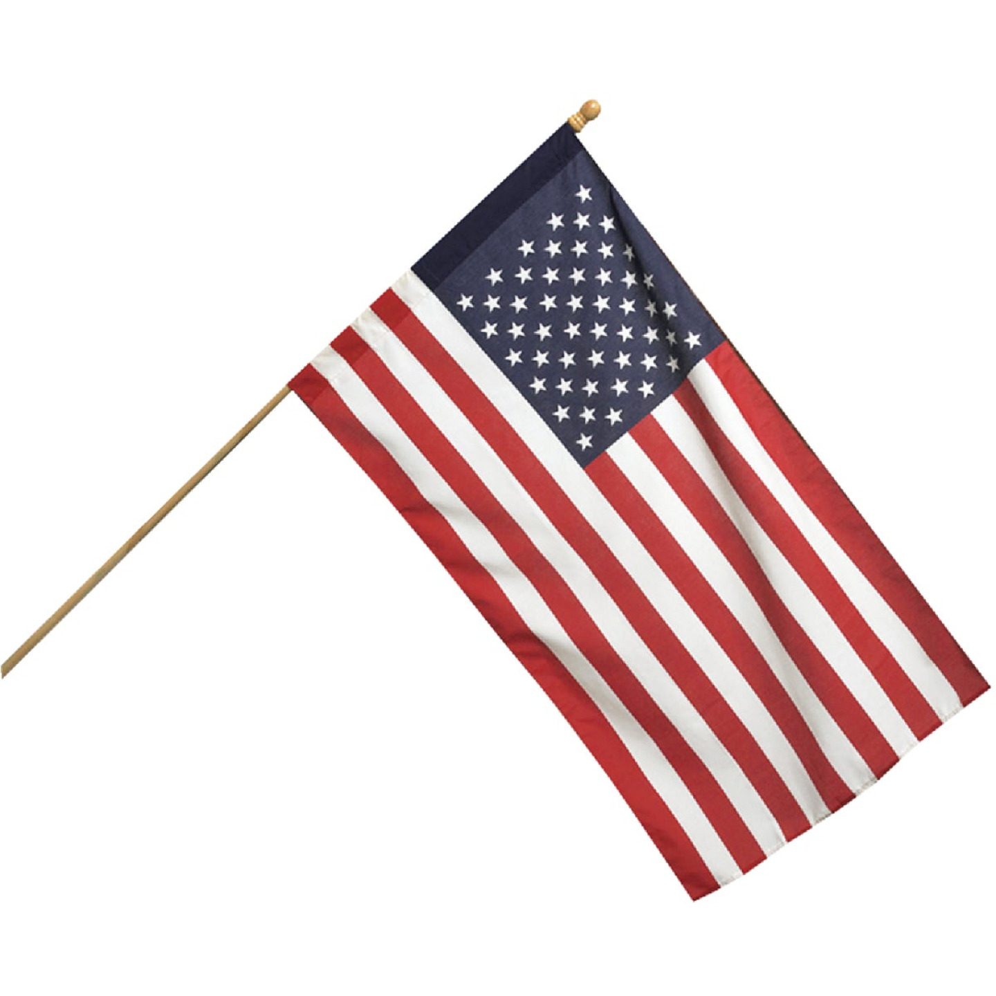 Valley Forge 2.5 Ft. x 4 Ft. Polycotton American Flag & 5 Ft. Pole Kit Image 1