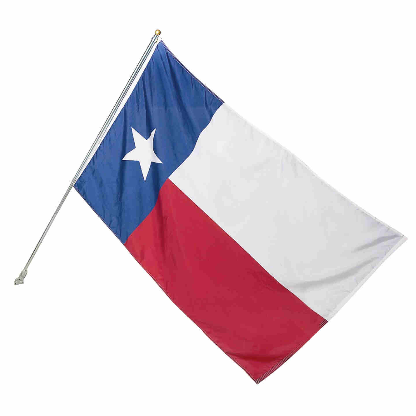 Valley Forge 3 Ft. x 5 Ft. Polyester Texas State Flag & 6 Ft. Pole Kit Image 1